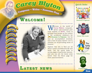 Carey Blyton new site screenshot